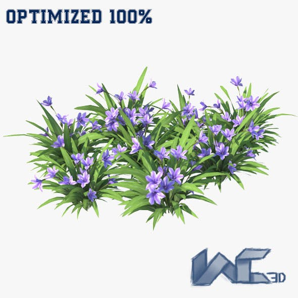 Blue Flower - 3DOcean Item for Sale