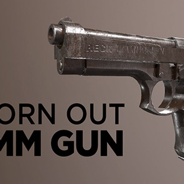 Gun 9mm worn out