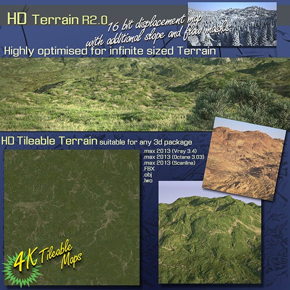 HD Terrain R2.0 - 3DOcean Item for Sale