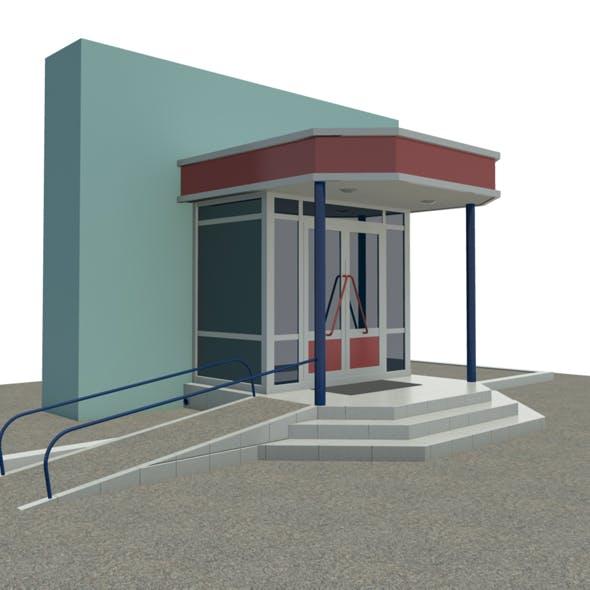 entrance to shop - 3DOcean Item for Sale