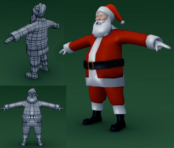Low Poly Santa - 3DOcean Item for Sale
