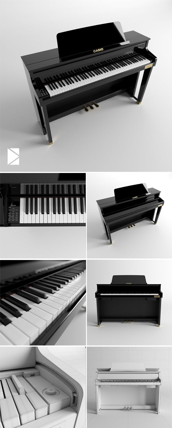 Piano Casio Celviano Grand Hybrid GP-500 - 3DOcean Item for Sale