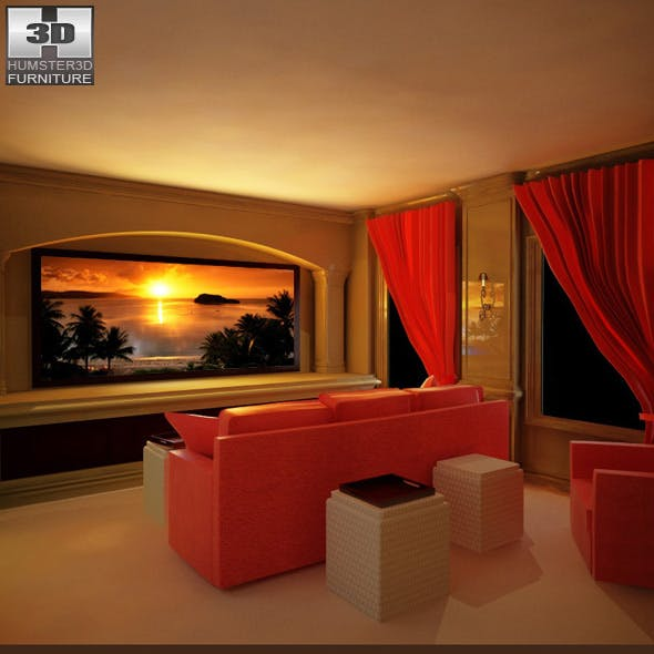 Home Theater set 04 - 3DOcean Item for Sale