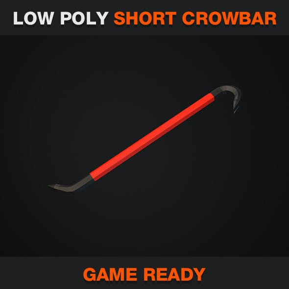Low Poly Short Crowbar