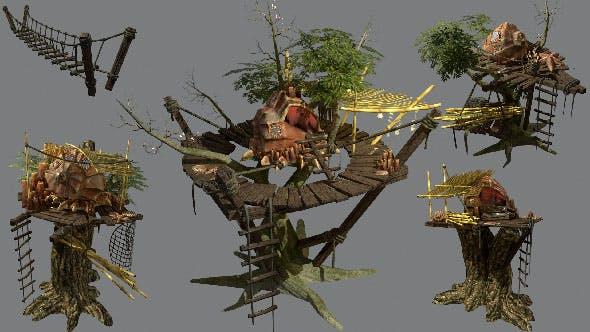 Shells camp set - 3DOcean Item for Sale