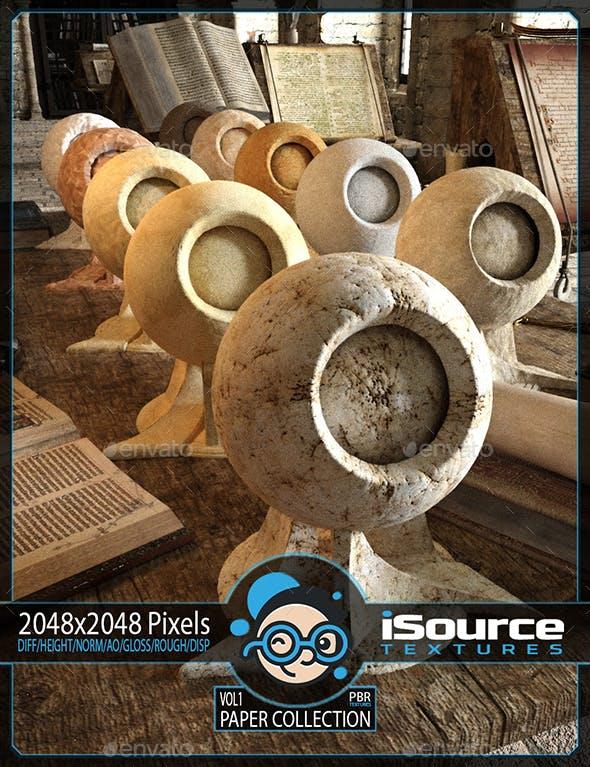 Paper Collection Merchant Resource - Vol1 (PBR Textures) - 3DOcean Item for Sale