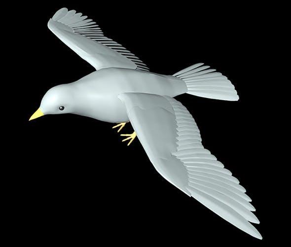 dove bird model - 3DOcean Item for Sale