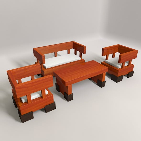 Wooden Guest Seat