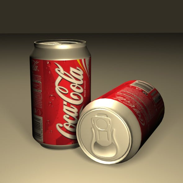 Coca Cola Can 01 - 3DOcean Item for Sale