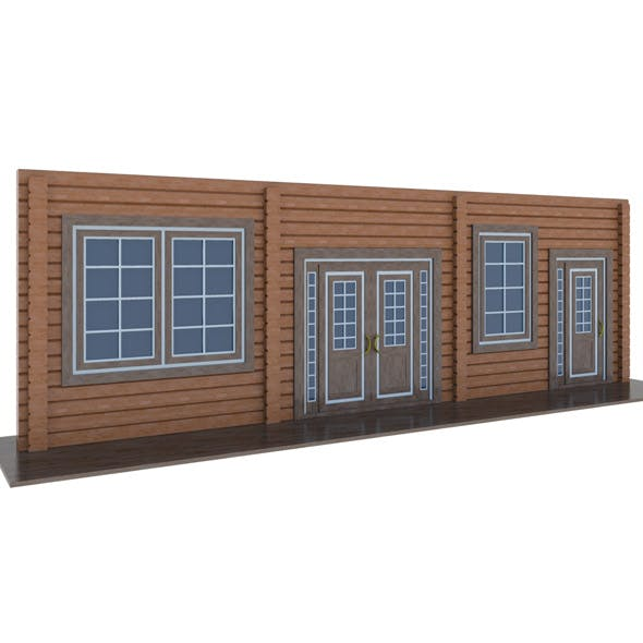 model of wooden windows and doors two colors - 3DOcean Item for Sale