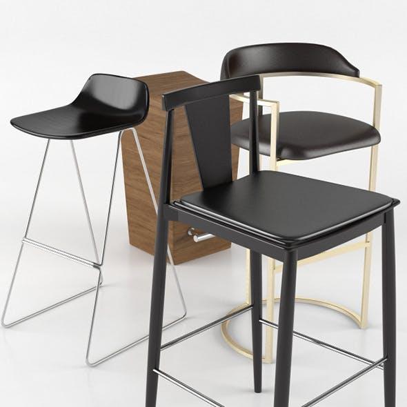 Bar Stool Sets - 3DOcean Item for Sale