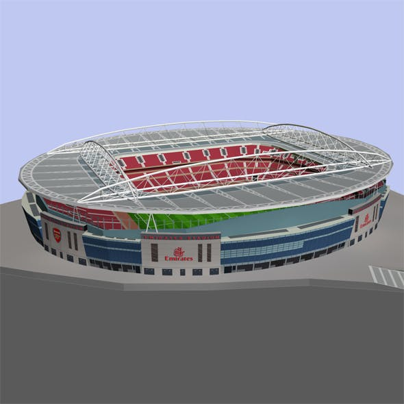 Emirates Stadium Low Poly
