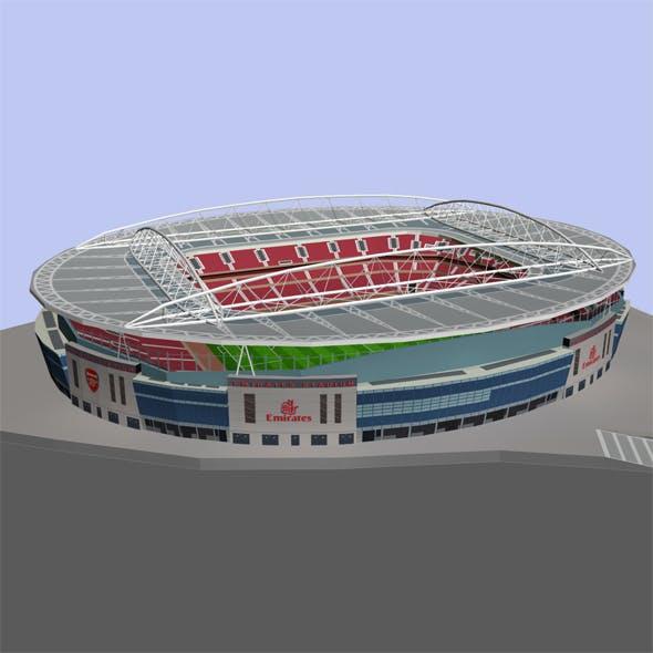 Emirates Stadium Low Poly