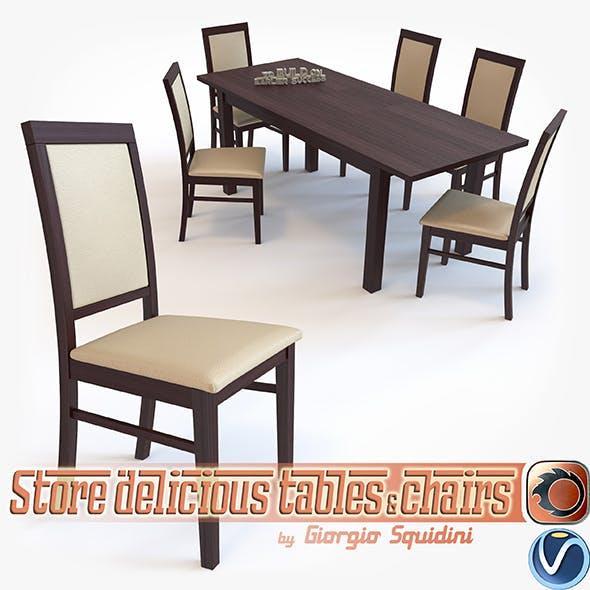 Chair SYLWEK1ECO & Table ERNEST dining set Halmar