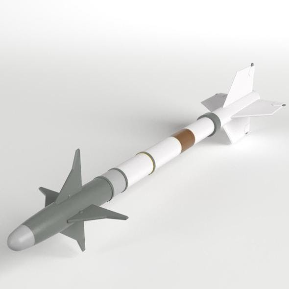AIM-9M Sidewinder Missile - 3DOcean Item for Sale