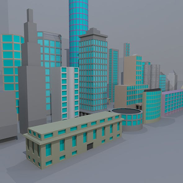 24 Low Poly Building