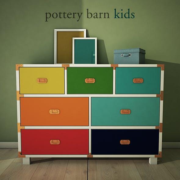 PotteryBarn, Gemma Campaign Extra Wide Dresser