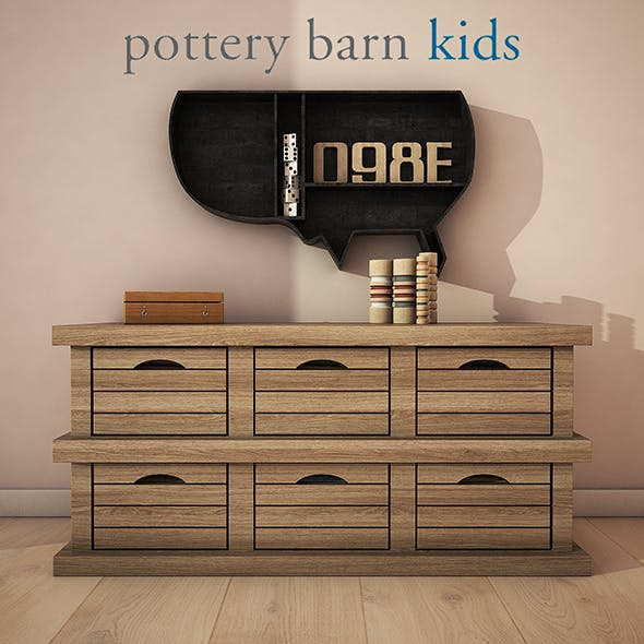 PotteryBarn - Low crate storage