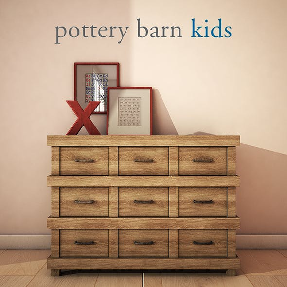 PotteryBarn-OwenDresser - 3DOcean Item for Sale