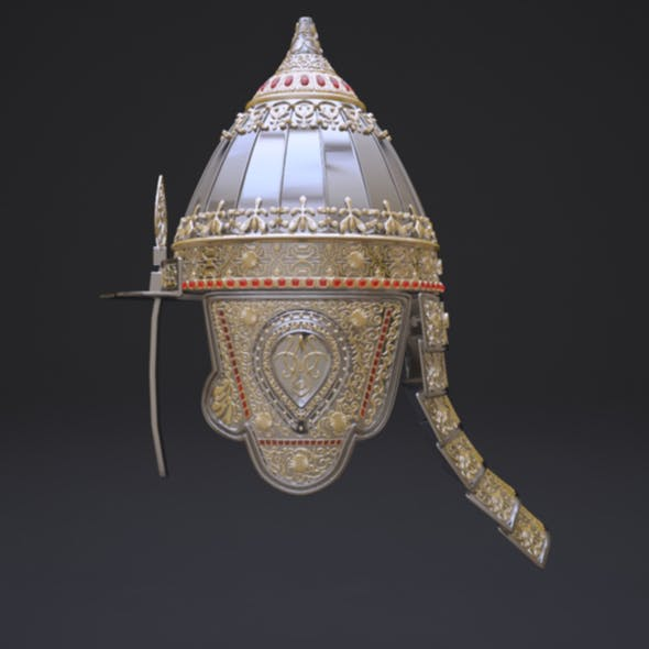 Russian helmet prince for the parade - 3DOcean Item for Sale