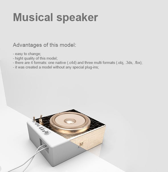 Musical speaker - 3DOcean Item for Sale