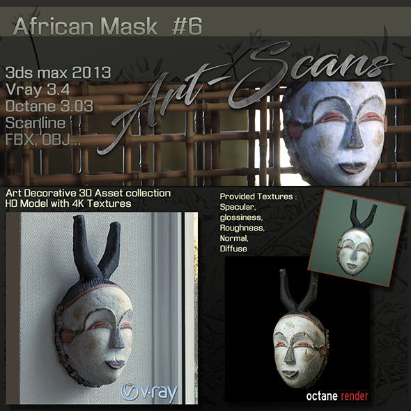 Art Scans African Mask #6