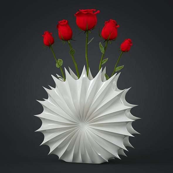 Flower Vase - 3DOcean Item for Sale