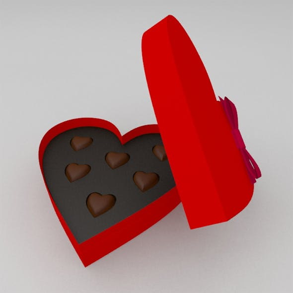 St.Valentine's gift heart shaped box of candy