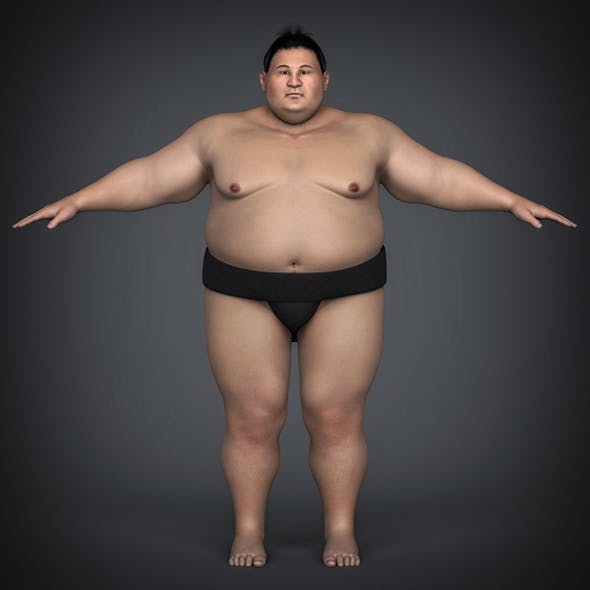 Realistic Japanese Sumo - 3DOcean Item for Sale