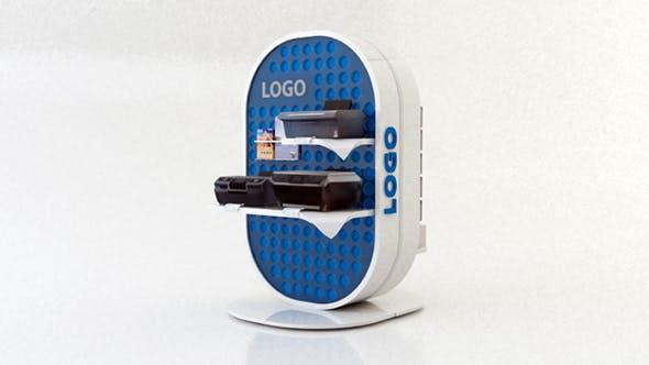 EXPOSITOR PAPLE CURVADO - DISPLAY POP - 3DOcean Item for Sale
