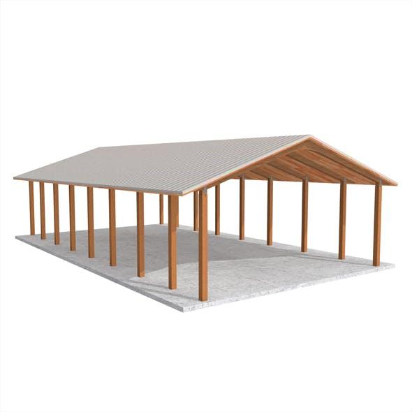 Wooden shelter 01