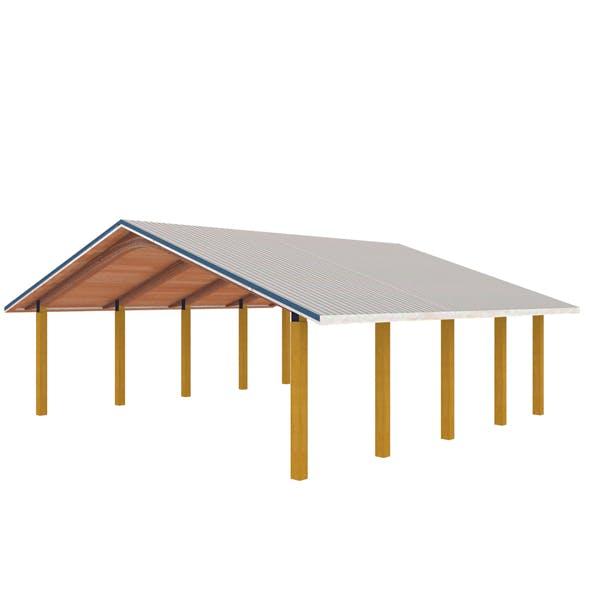 Wooden shelter 02 - 3DOcean Item for Sale