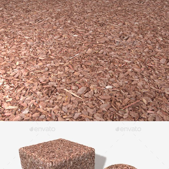 Red Garden Bark Seamless Texture