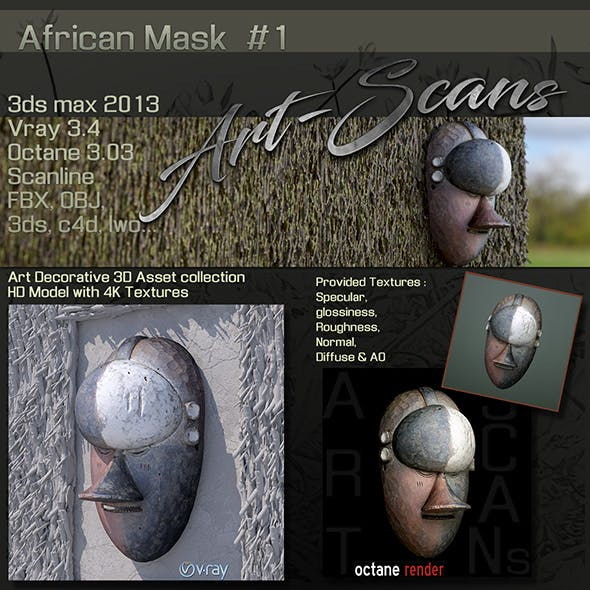 Art Scans African Mask #1