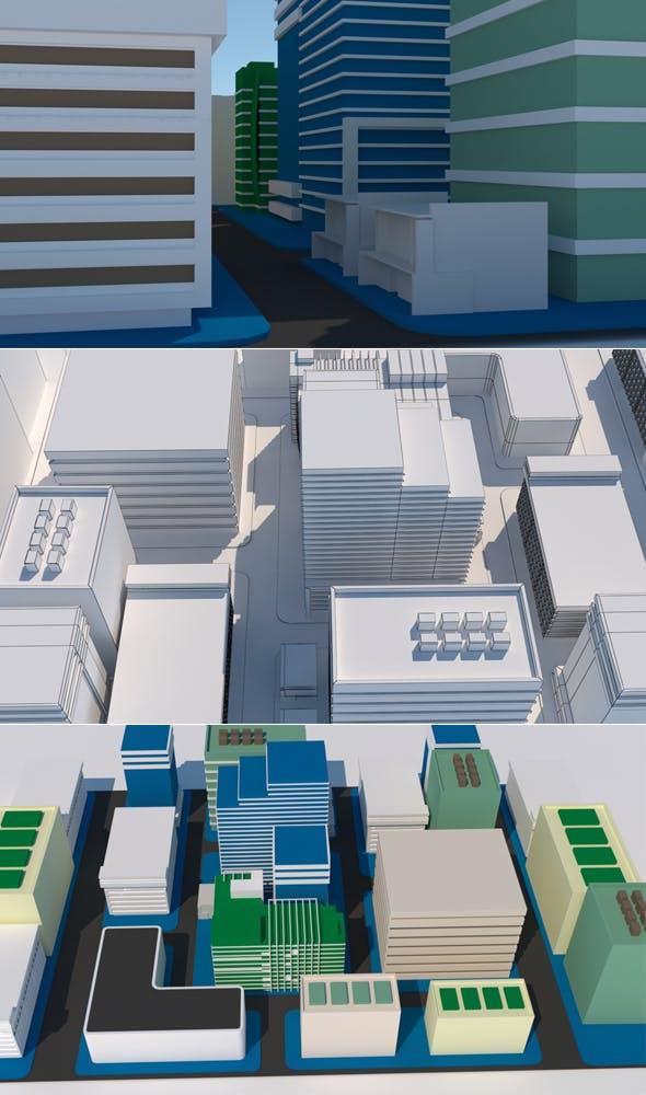City Blog 1 - 3DOcean Item for Sale