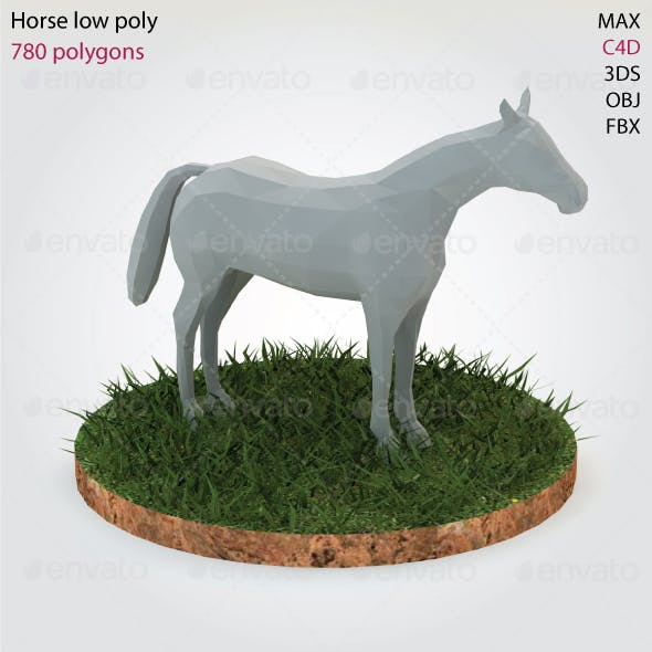 Horse - Low Poly - 3DOcean Item for Sale