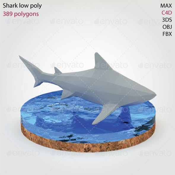 Shark - Low Poly - 3DOcean Item for Sale