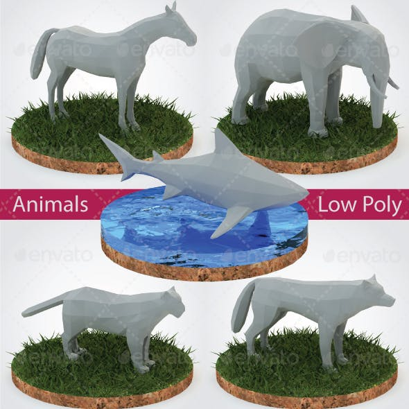 Animals Low Poly - Vol. 1
