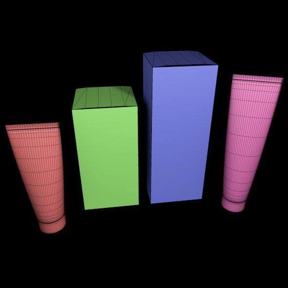 Cosmetic cream tube