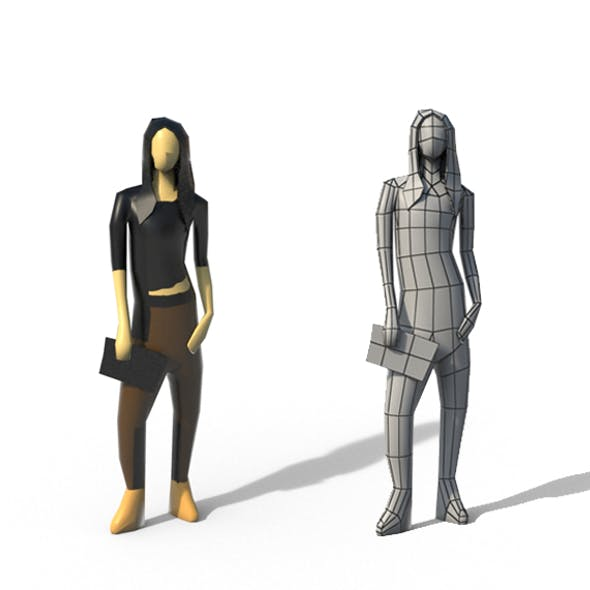 Low Poly Girl 01