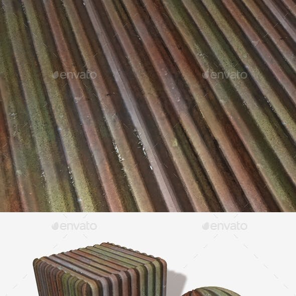 Old Corrugated Sheet Metal Seamless Texture