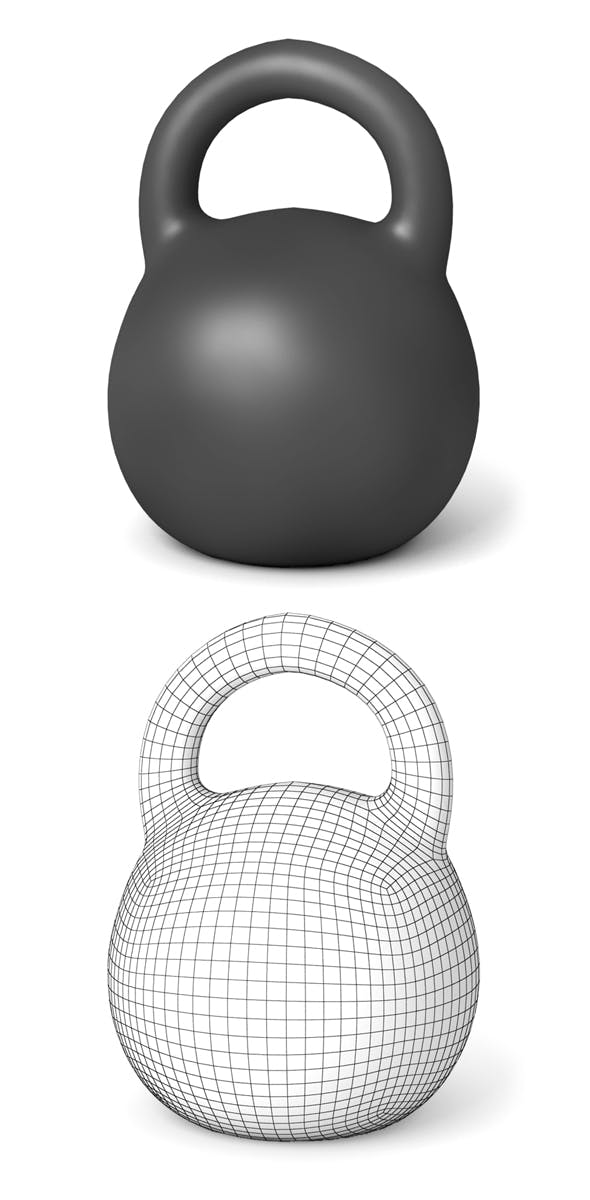 Kettlebell - 3DOcean Item for Sale