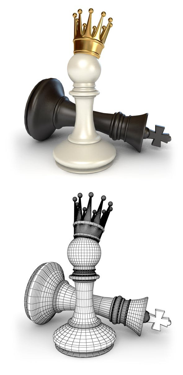 Pawn Victory over King - 3DOcean Item for Sale