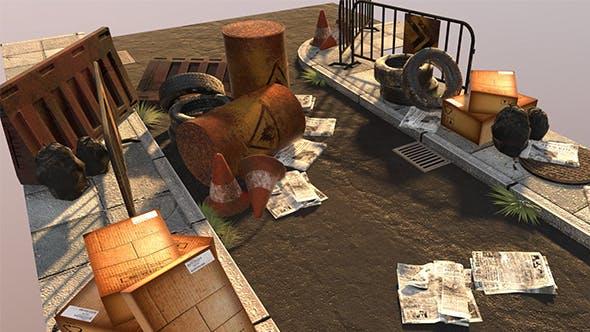 Street assets - 3DOcean Item for Sale