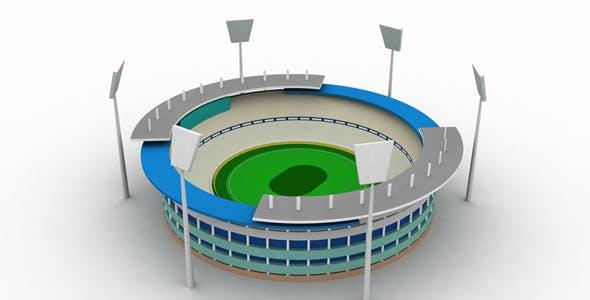 Stadium Icon 3d - 3DOcean Item for Sale