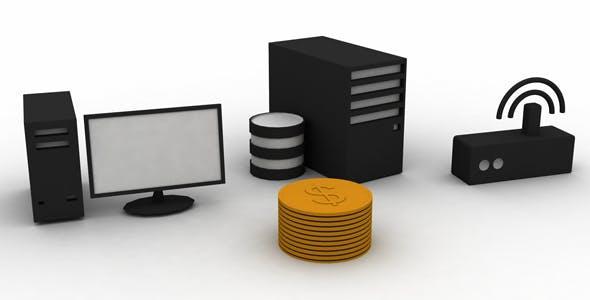 IT Content 3d Model - 3DOcean Item for Sale
