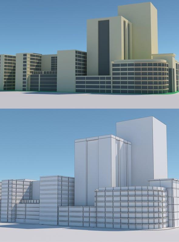 City Building Model - 3DOcean Item for Sale