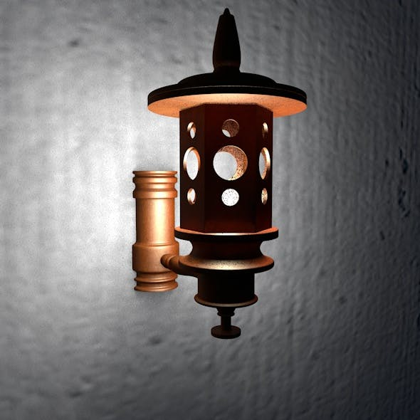 Wooden Wall Lamp 01