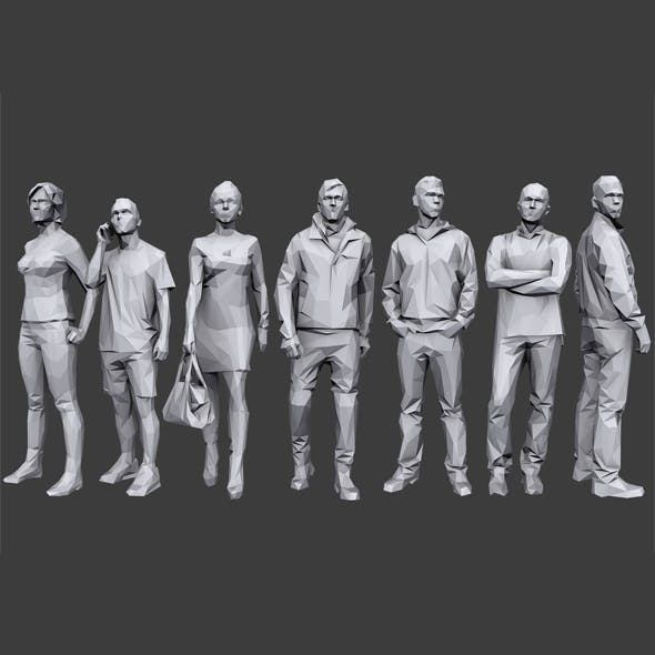 Lowpoly People Casual Pack