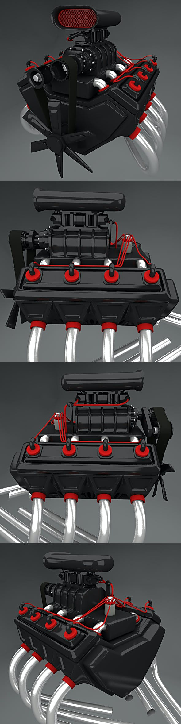Car Engine 8 cylinders Full Edition - 3DOcean Item for Sale